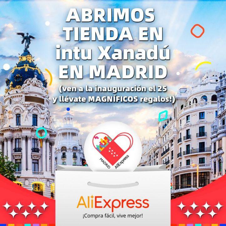 Desafío a Amazon: AliExpress abrirá este domingo su primera tienda física en Madrid