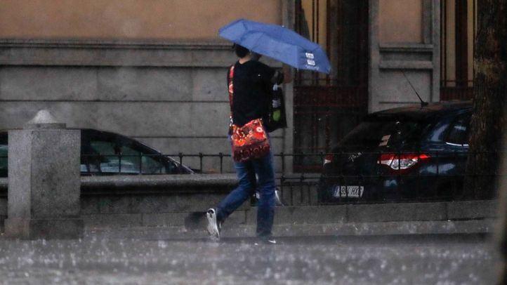 Tormenta veraniega en Madrid.