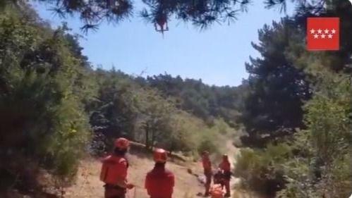 Rescatado un senderista de 82 años en Cercedilla