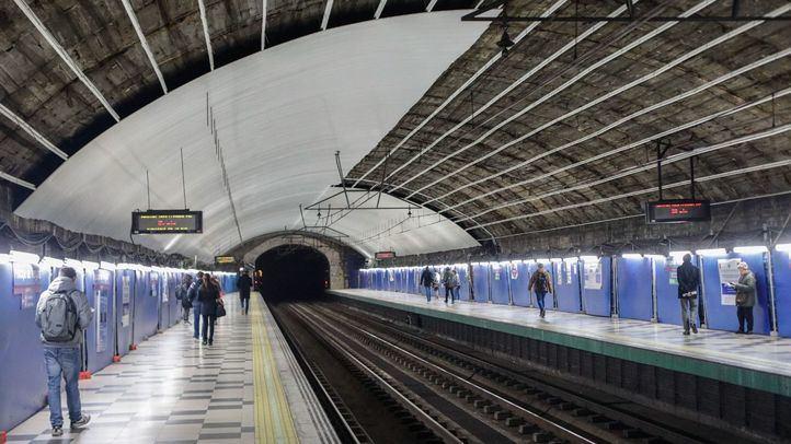 Obras en la estación de Metro de Príncipe de Vergara.