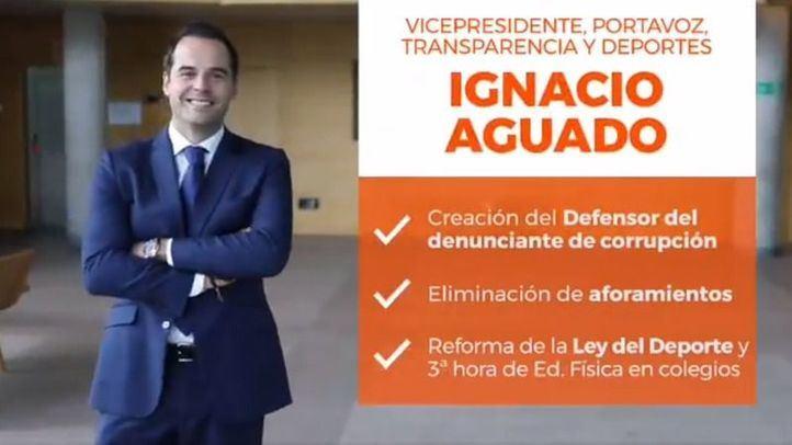 Ciudadanos presume de 'Equipo Aguado' al margen del resto del Gobierno madrileño