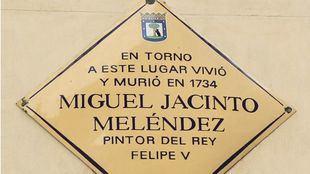 Placa de Miguel Jacinto Meléndez.