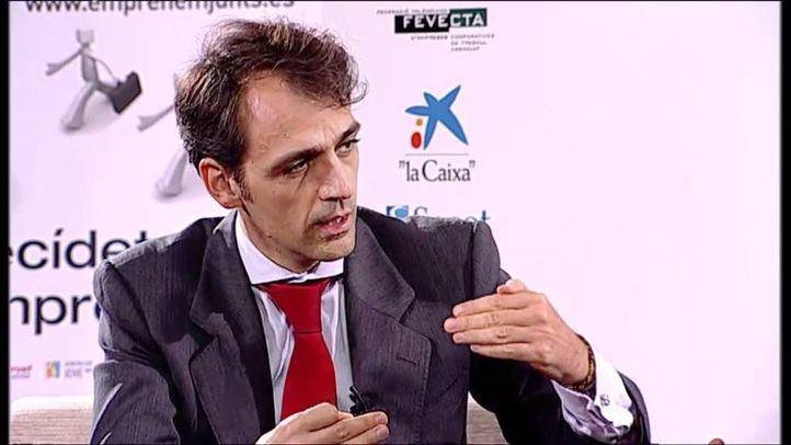 Isaac Martín Barbero durante una charla