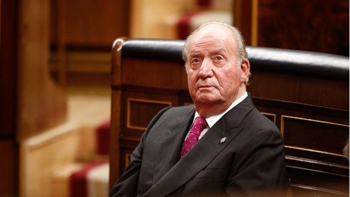 El Rey emérito en la conmemoración del 40 aniversario de la Constitución en el Congreso.