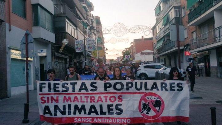 Manifestación en San Sebastián de los Reyes contra los festejos taurinos.