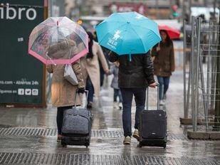 Las tormentas y fuertes lluvias llegan a Madrid