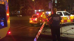 Herido un motorista tras quedar atrapado bajo un vehículo