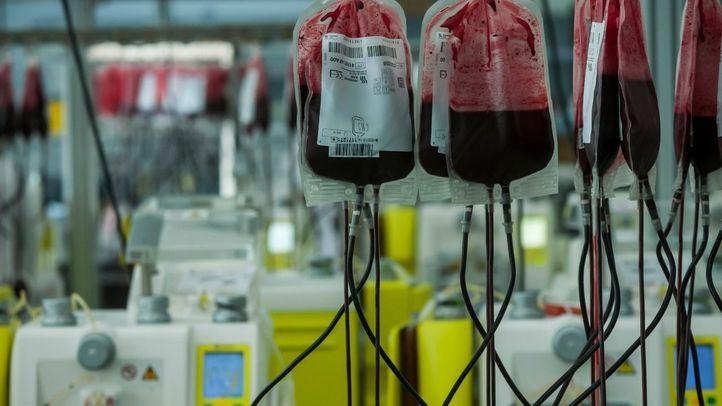Reservas de sangre en el Centro de Transfusión de la Comunidad de Madrid.