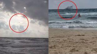 Un avión militar se precipita en el mar Menor: fallece el piloto y único tripulante