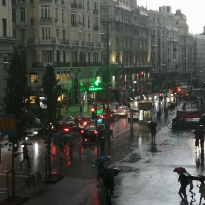 La lluvia continuará este martes