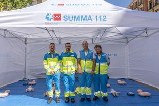 SUMMA 112 muestra cómo actuar en una parada cardiorrespiratoria