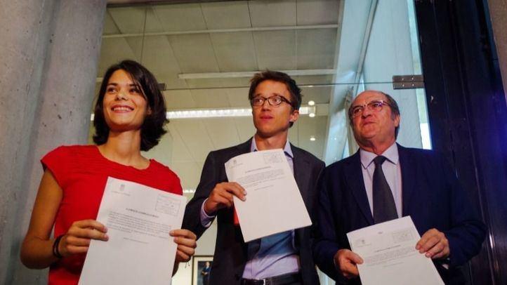 PSOE, Más Madrid y Podemos presentan la petición de Comisión de Investigación del caso Avalmadrid