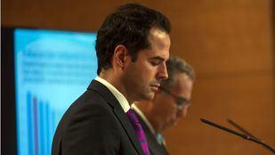 Ignacio Aguado en un momento de la rueda de prensa tras el Consejo de Gobierno