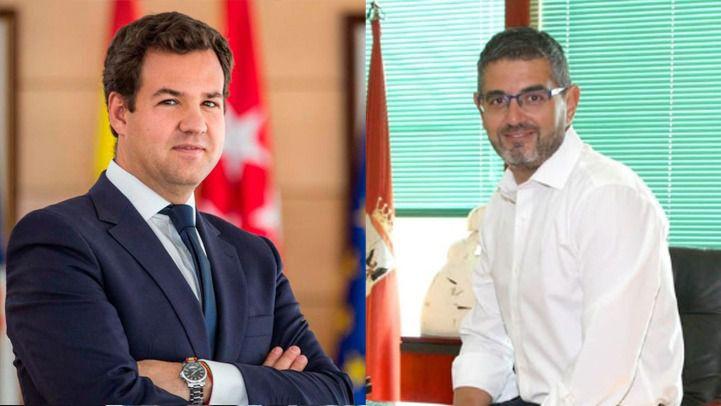 Los alcaldes de Las Rozas, José de la Uz, y Alcobendas, Rafael Sánchez Acera.