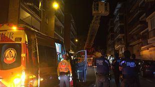 Seis dotaciones de Bomberos del Ayuntamiento de Madrid acudieron a sofocar el incendio.