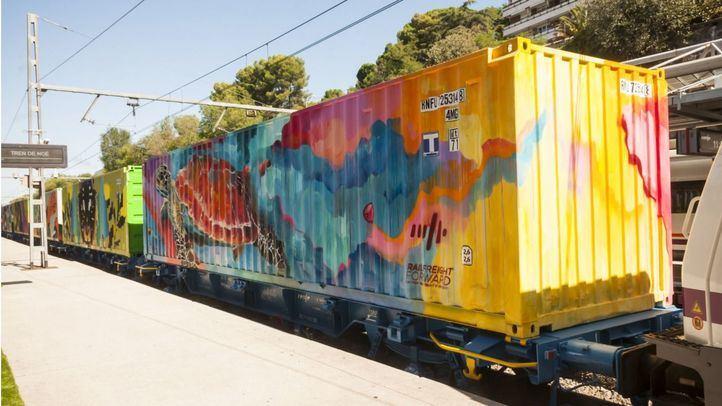 El Tren de Noé: la obra de arte más larga del mundo visita Madrid para concienciar sobre el cambio climático