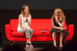 Andrea Levy y Carme Portaceli, presentando la temporada del Español.