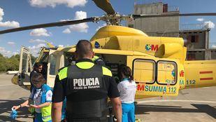 El hombre herido ha sido trasladado en helicóptero al Hospital 12 de Octubre.