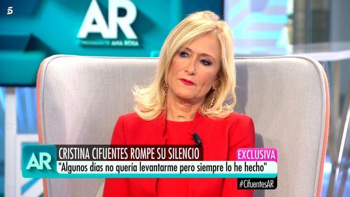 Cristina Cifuentes, en la entrevista concedida este lunes en el Programa de Ana Rosa.
