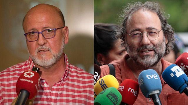 Luis Miguel López Reíllo (Secretario General de UGT Madrid) y Enrique Villalobos (presidente de la FRAVM), esta tarde en Onda Madrid.