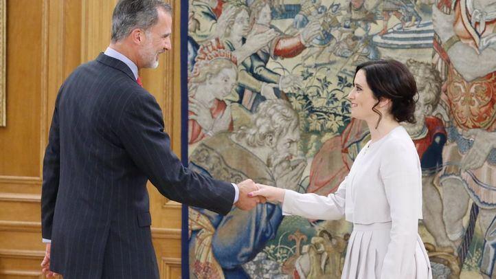 El Rey recibe en Zarzuela a Isabel Díaz Ayuso