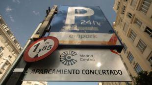 Se detectan fallos en 30% de los párkings de Madrid Central para regristrar datos
