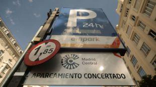 Madrid Central: fallos en el registro de datos en el 30% de los parkings