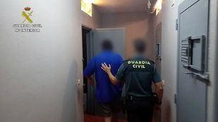 Imágenes de la detención del acusado de violación.