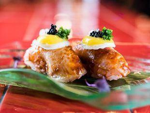 Niguiri anticuchero, uno de los platos de Páru Inkas sushi & grill.