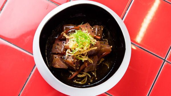 Ceviche Nikkei, uno de los platos de la carta de Páru Inkas sushi & grill.