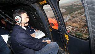 Pedro Sánchez visita la zona afectada por el temporal