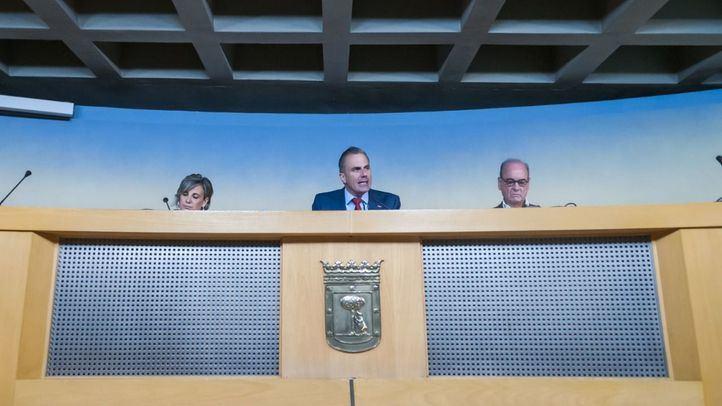 El portavoz de Vox en el Ayuntamiento, Javier Ortega Smith, realiza un balance de los primeros 100 días de la formación en el Consistorio.