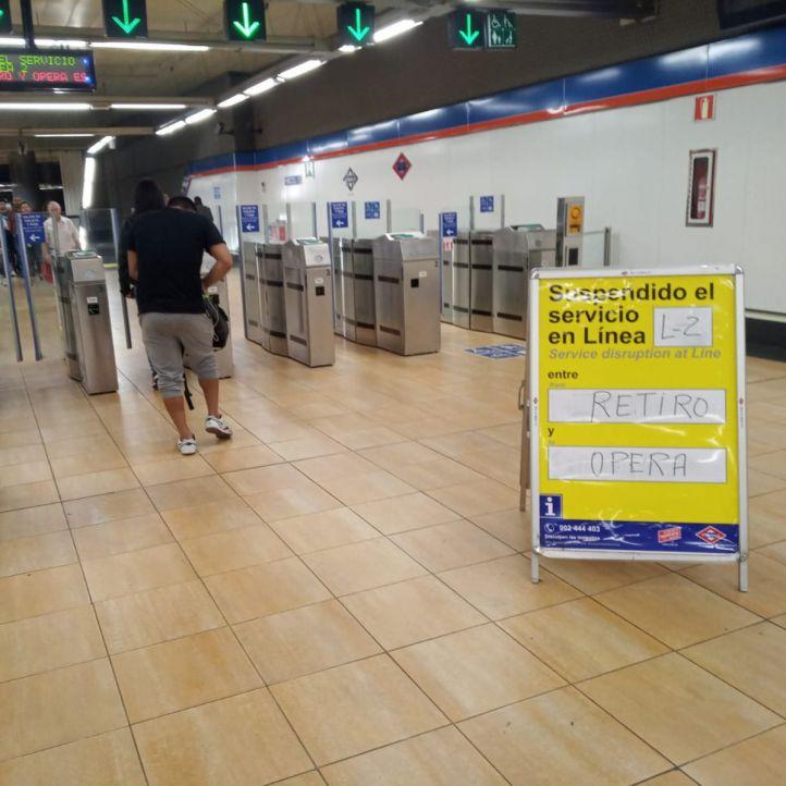 Restablecido el servicio en la L2 de Metro, interrumpido por una avería
