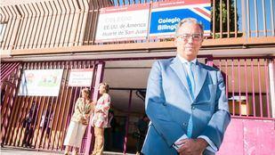 El Consejero de Educación, Enrique Ossorio, en el Colegio Público Bilingüe Estados Unidos de América - Huarte de San Juan.