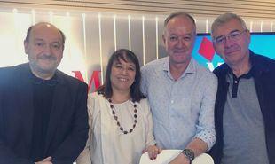 Constantino Mediavilla, Editor de Madridiario; Pilar Vicente García, sustituyendo a Nieves Herrero; Antonio Castro, colaborador de Madridiario y Pedro Montoliu, exdirector de Madridiario