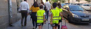 Madrid apuesta por 'peatonalizar' calles aledañas a colegios en hora punta