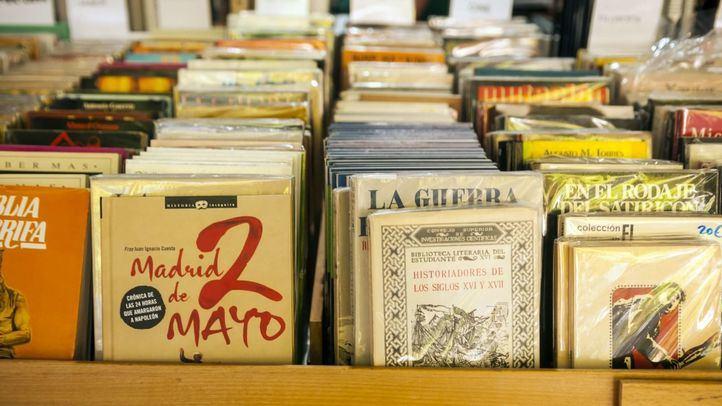 Libros en la exposición.