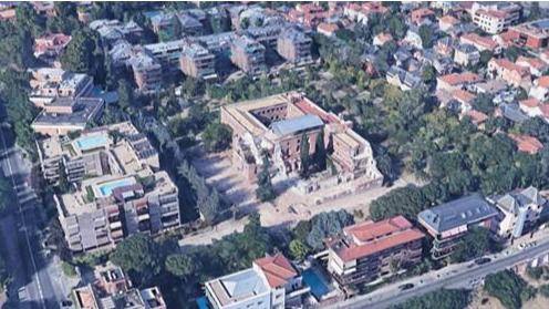 Vista aérea del Convento Damas Católicas