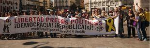 Una concentración en Madrid muestra su apoyo a los siete miembros de los CDR encarcelados