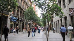 Calle Fuencarral, en el distrito Centro.