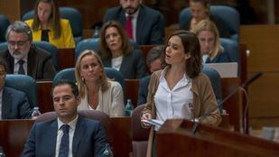 Isabel Díaz Ayuso interviene en el primer Pleno de la Asamblea de Madrid