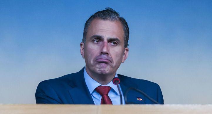Javier Ortega Smith, portavoz de Vox en el Ayuntamiento.