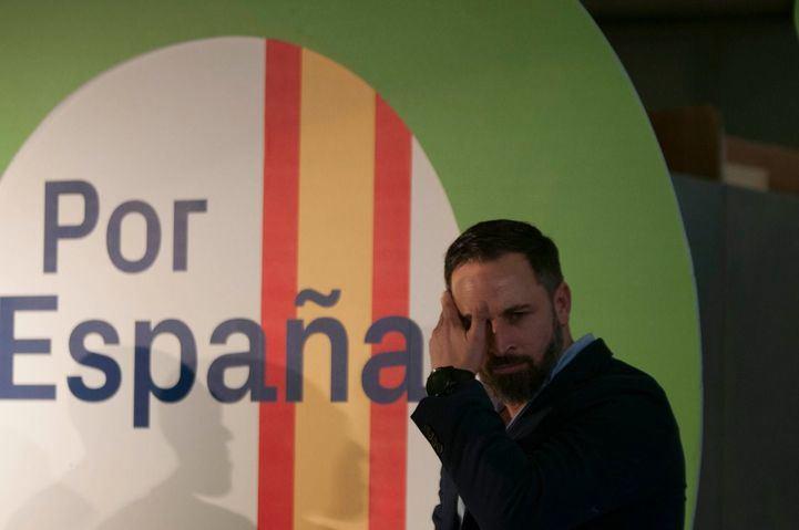 Santiago Abascal, en la campaña del 28-A.