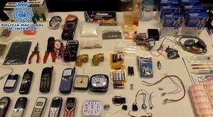 Materiales incautados al yihadista detenido en Parla.