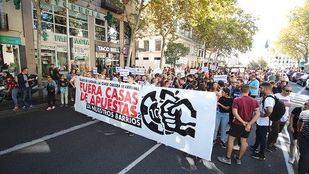 Manifestación contra las casas de apuestas.
