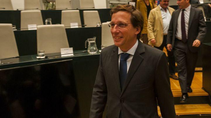 José Luis Martínez-Almeida, en un pleno del Ayuntamiento