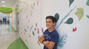 Asís Benito, paciente de oncología infantil del Hospital Niño Jesús
