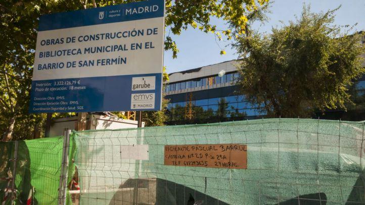 Cultura paraliza las obras de la biblioteca de San Fermín