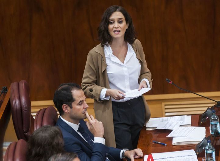 Ayuso, a Unidas Podemos: 'Quieren pisotear la libertad y el derecho de propiedad como un régimen bolivariano'