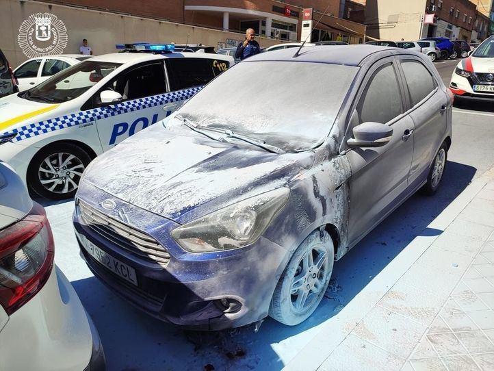 Detenido por quemar coches con gasolina